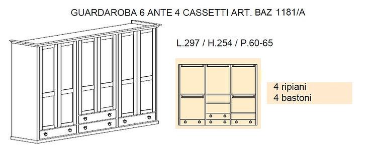 armadio con cassettiera grezza, armadi su misura, progetto armadio