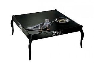 Tavolino grezzo classico, tavolino grezzo in stile, tavolini classici grezzi