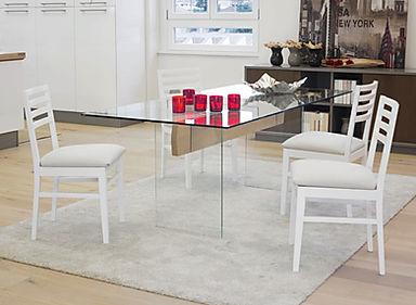 Tavolo in cristallo moderno