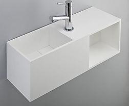 Mobile sospeso bagno in solid surface