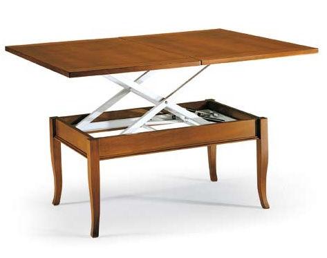 Tavolo da salotto trasformabile in tavolo