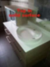 piano in corian, vasca in coria, vasche in corian