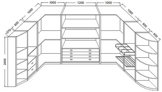 Cabine armadio classiche a bari - Misure cabina armadio ...