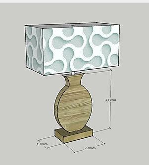 Lampada da tavolo in legno su misura