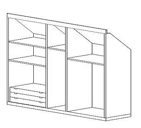 armadio mansardato grezzo in profondità, misura armadio grezzo