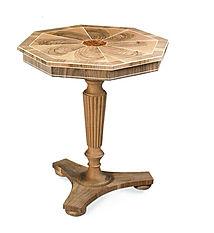 Tavolino grezzo, tavolino tondo classico grezzo, tavolino in stile grezzo