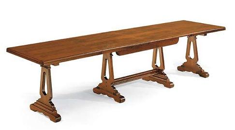 tavolo fratino aperto in massello