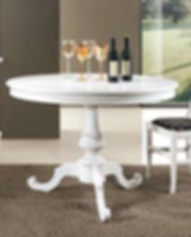 Tavolo classico tondo bianco