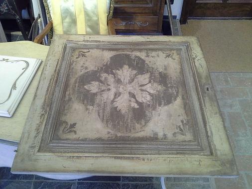 pannelli legno laccati e decorati, legno decorato, pannello decorato e invecchiato