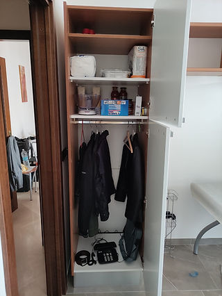 Colonna frigo trasformata