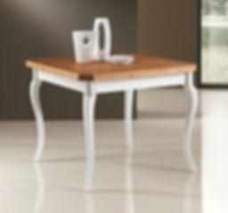 Tavolo vintage bianco noce