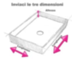 vasca in corian su misura, vasca su misura in solid surface