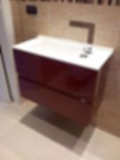 mobile bagno laccato lucido, mobile bagno su misura