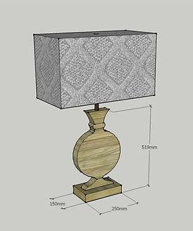 Lampada decorata classica