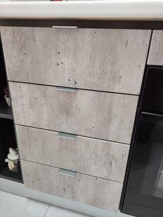 Particolare finitura cemento