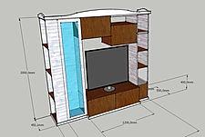 parete attrezzata in nobilitato, libreria su misura, parete moderna su misura