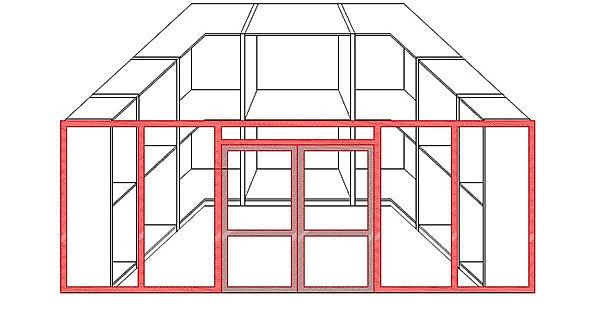 Portale per cabine armadio, porte scorrevoli per cabine armadio, ante per cabine armadio