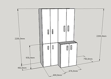 Progettazione armadio dispensa per bagno
