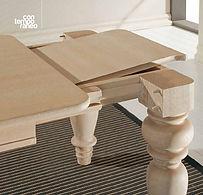 tavolo classico con gamboni, tavolo su misura