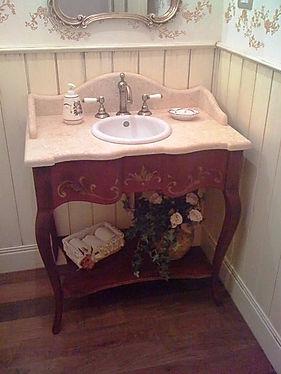 Mobile bagno particolare, mobile bagno decorato, mobile bagno bari, mobile rivisitato