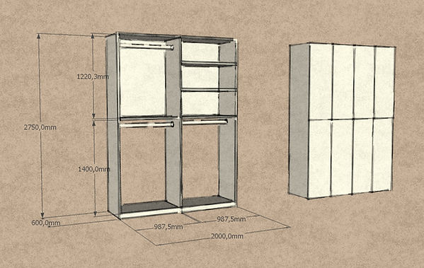Armadio ingresso, armadio moderno ingresso