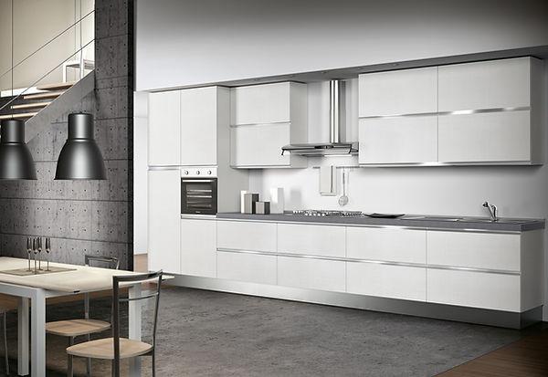 Cucina moderna bianco lucido