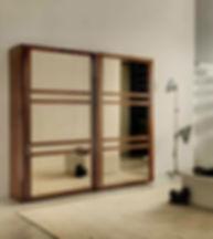 Armadio con ante vetro, armadio moderno, armadio ante scorrevoli in vetro