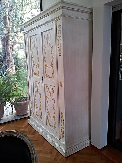 armadio dispensa, armadio laccato, armadio decorato, armadio su misura