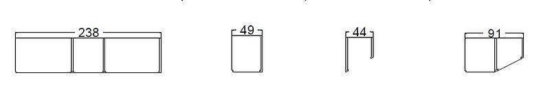 Armadio 3 ante, armadio grezzo 3 ante, armadio lineare grezzo