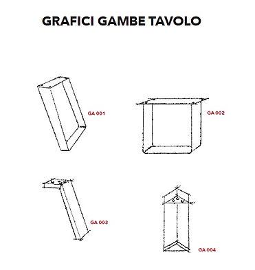 Gambe metalliche per tavoli