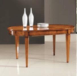 tavolo ovale grezzo apribile