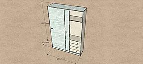 Armadio moderno su misura, armadio moderno ingresso, armadio su misura con ante scorrevoli