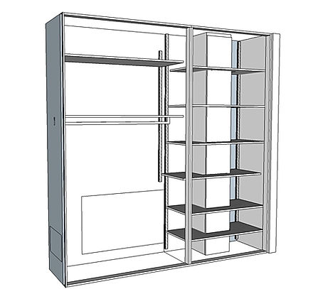 Progettazione interno cabina armadio
