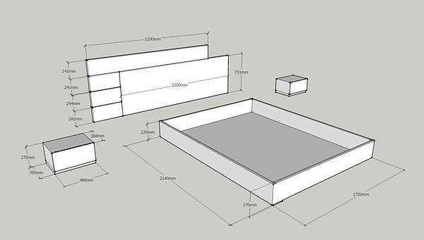Progetto camera da letto moderna