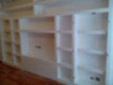 parete attrezzata in cartongesso, parete in cartongesso