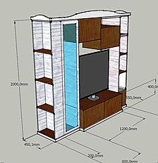 parete attrezzata su misura, parete moderna su misura, parete attrezzata su misura a bari