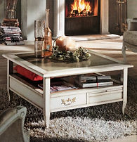 Tavolino salotto quadrato grezzo