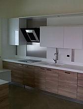 Cucina moderna, cucina in nobilitato, cucina con piano in corian termosaldato