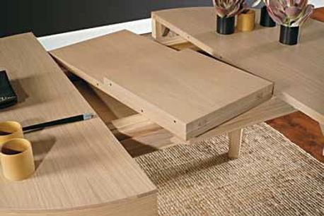 tavolo moderno con allunghe