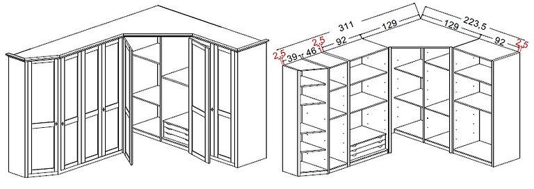 misure armadi, misure cabine armadio, prezzi armadi, prezzi cabine armadio, composizione cabina armadio