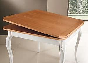 Tavolo quadrato classico laccato bianco