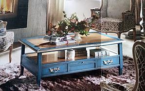 Tavolino salotto grezzo con cassetti