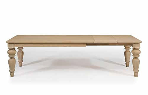 Tavolo con gamboni e allunghe