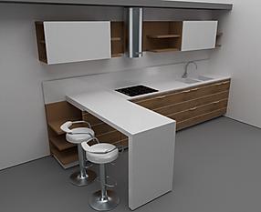 cucina moderna, cucine su misura, cucina di design, cucina con top in corian