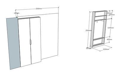 Progetto armadio ingresso