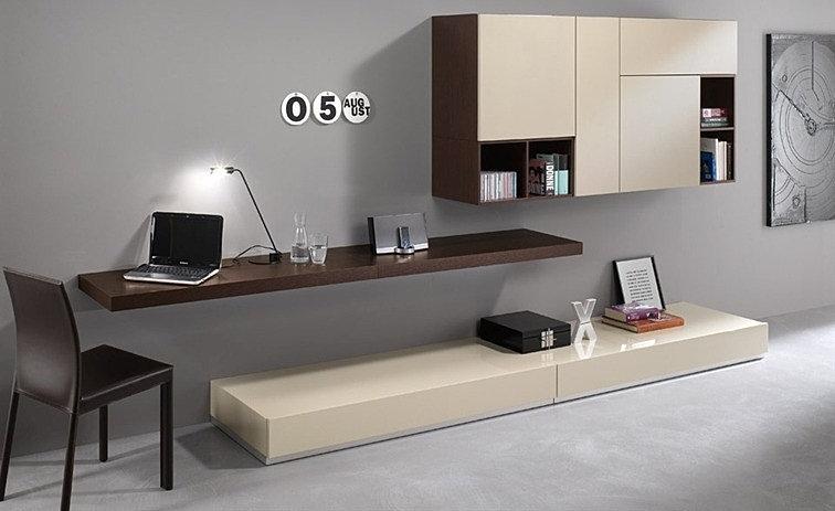 Mobili su misura italia la sartoria del mobile - Parete attrezzata con scrivania ...