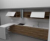 Cucina moderna con top in corian