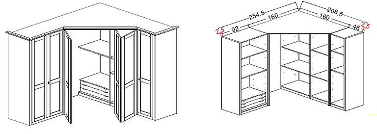 Cabine armadio classiche a bari - Misure cabine armadio ...