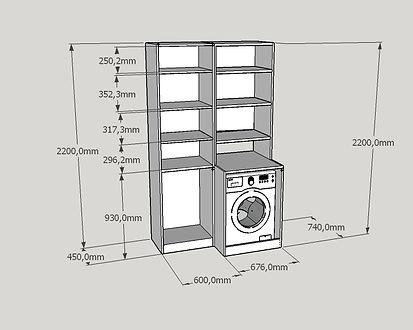 Progettazione mobile bagno lavanderia