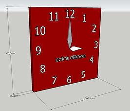 Orologio da parete su misura, orologio da parete moderno, orologio a muro